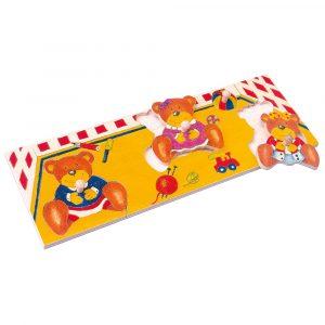 Puzzle na desce - medvědi