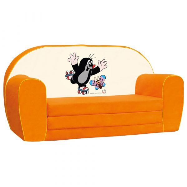 Mini pohovka krteček, oranžová