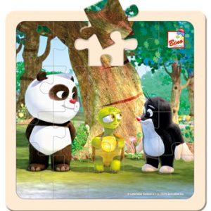 Krtek a Panda s želvou, puzzle