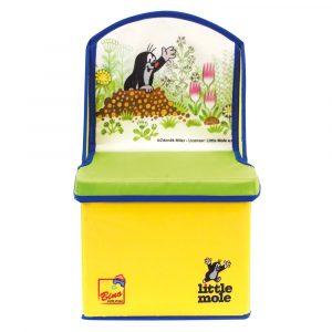 Krtek 2v1 box na hračky/židle