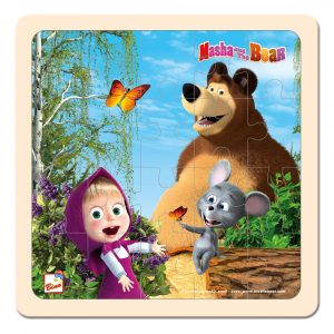 Máša a Medvěd puzzle s myškou 20x20cm